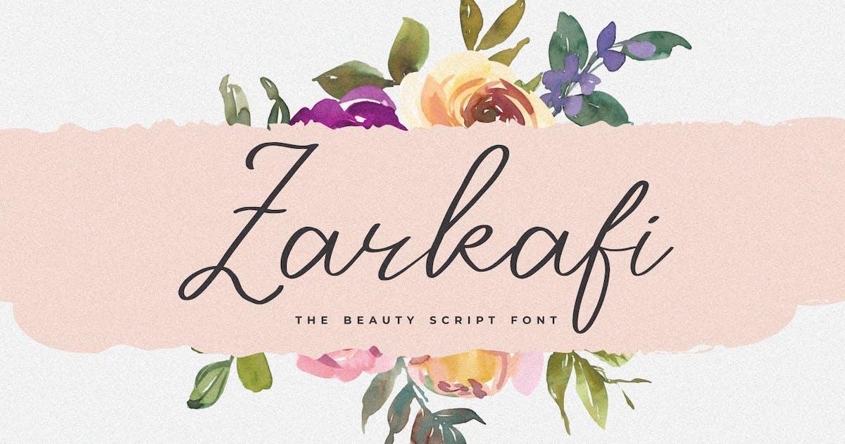 Download Zarkafi - The Beauty Script Font by Graphicfresh