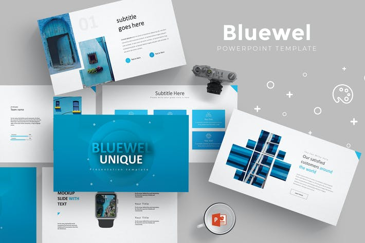 Cover Image For Bluewel - Powerpoint Template