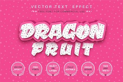 Dragon fruit - editable text effect, font style