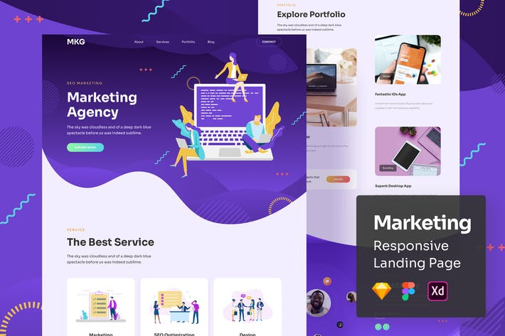 Thumbnail for Marketing Responsive Landing Page