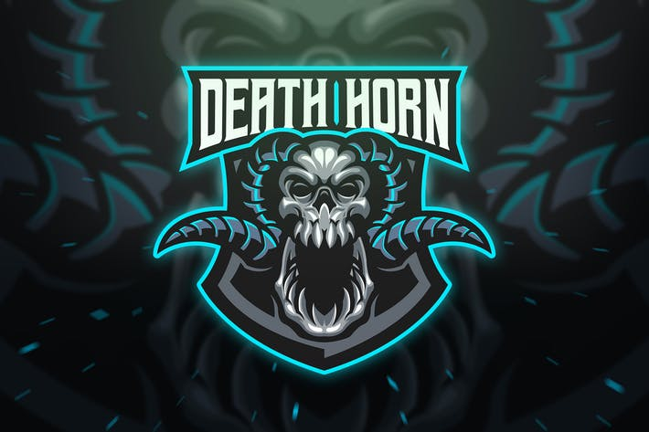 Thumbnail for Death Horn Sport and Esport Logo Template