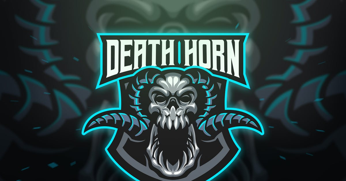 Download Death Horn Sport and Esport Logo Template by Blankids