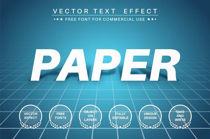 Бумажная подставка - редактируемый текстовый эффект, стиль шрифта