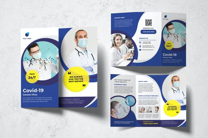Thumbnail for Covid-19 Trifold Brochure