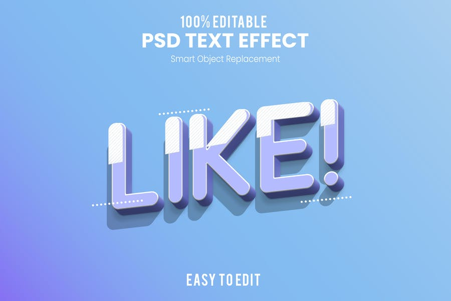 Like!-3D Text Effect