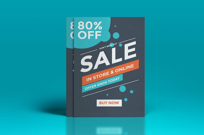 flat design sale flyer template by graphics4u on envato elements