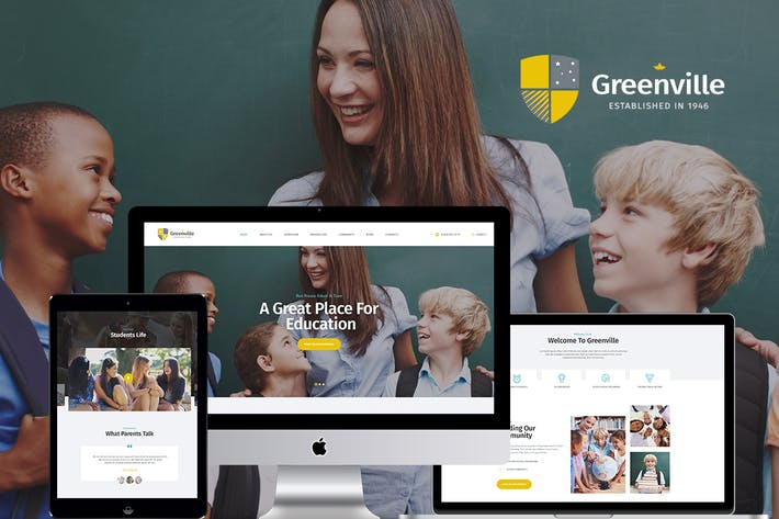 Thumbnail for Greenville | A Private School WordPress Theme