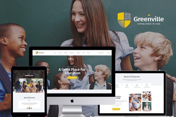 Cover Image For Greenville | A Private School WordPress Theme