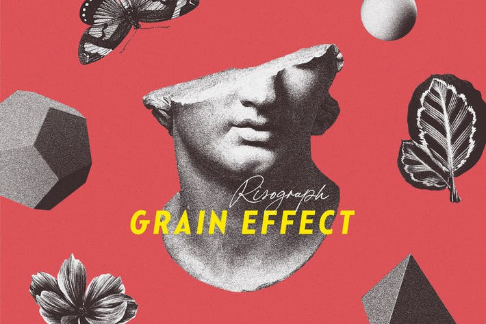 Thumbnail for Risograph Grain Effect for Photoshop