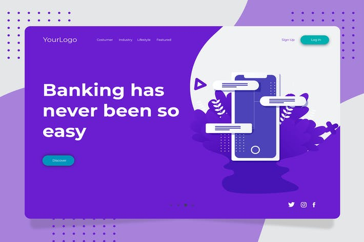 Thumbnail for Bank - Banner & Landing Page