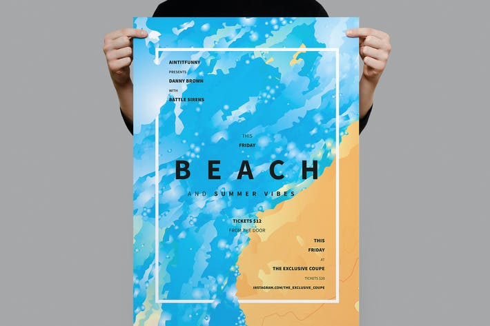 Cover Image For Beach Summer Flyer / Poster