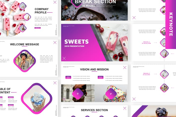 Thumbnail for Sweets - Business Keynote Template