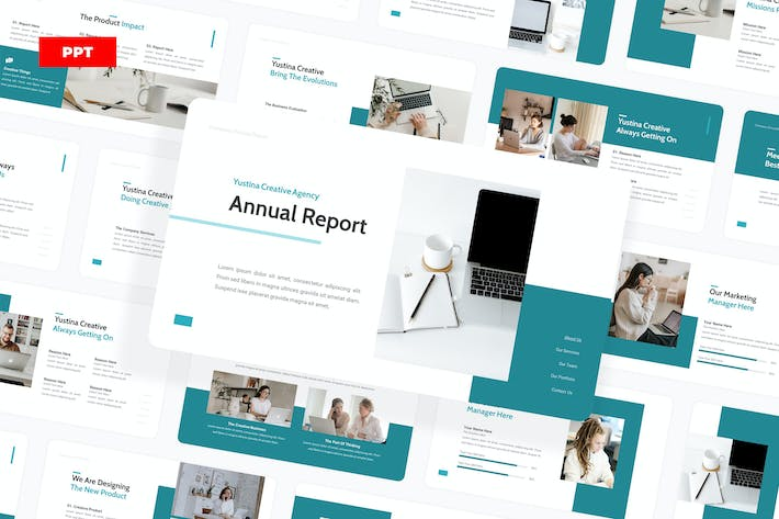 Thumbnail for Yustina Annual Report - PowerPoint