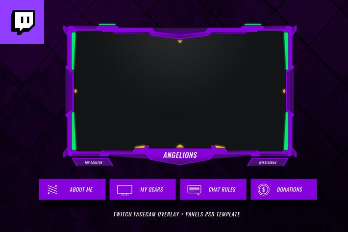 Thumbnail for Twitch Facecam Overlay V11