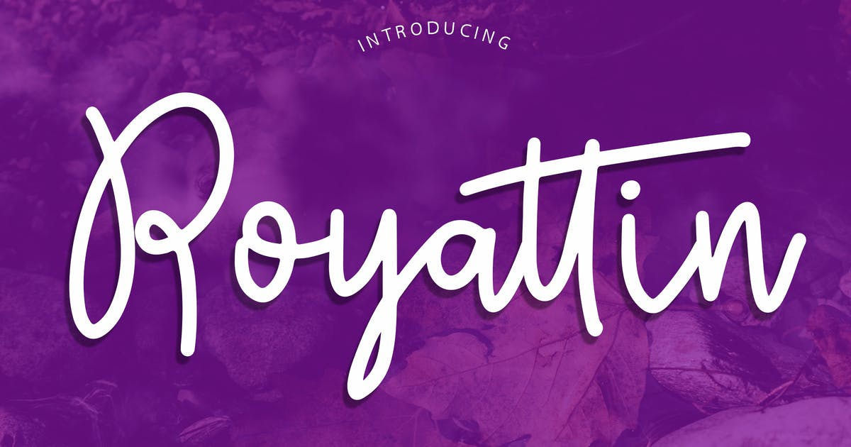 Download Royattin Modern Calligraphy Monoline Font by Formatika