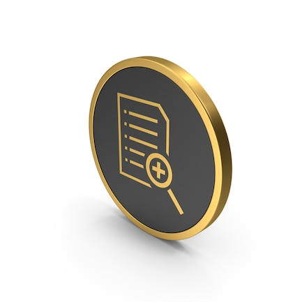 Gold Icon Document File Zoom