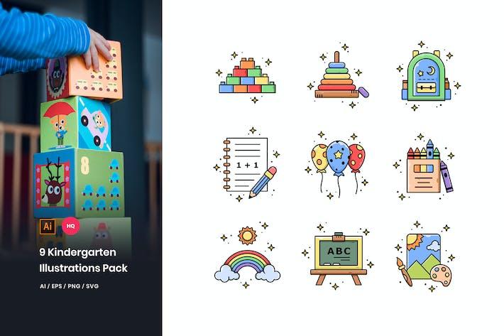 Thumbnail for Kindergarten Illustrations Pack