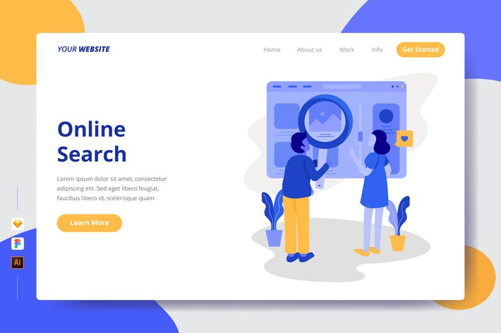 Thumbnail for Online Search - Landing Page