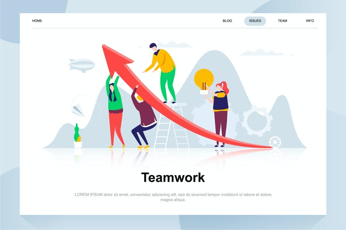 Thumbnail for Teamwork Flat Concept