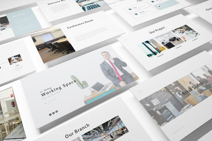 Thumbnail for Working Space Powerpoint Template