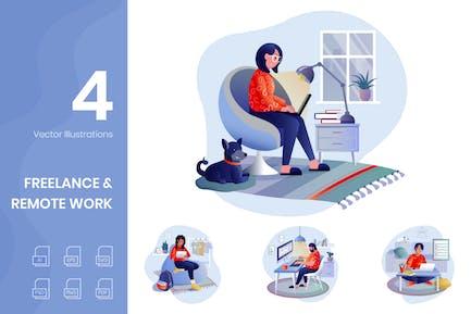 Freelance & Remote Work Illustrations