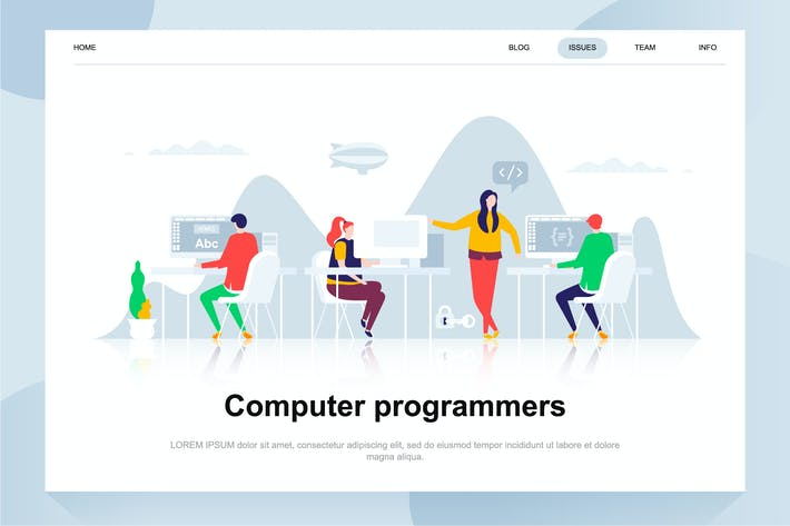 Thumbnail for Computer Programmers Flat Concept