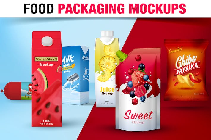 Thumbnail for Food Packaging Mockups