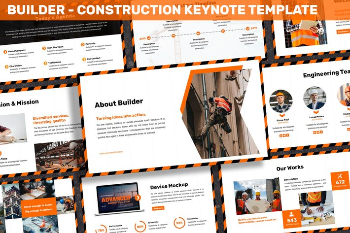 Thumbnail for Builder - Construction Keynote Template