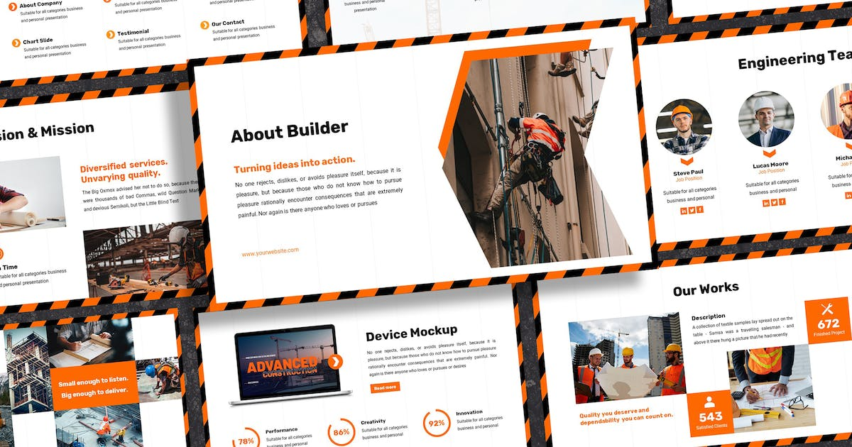 Download Builder - Construction Keynote Template by SlideFactory