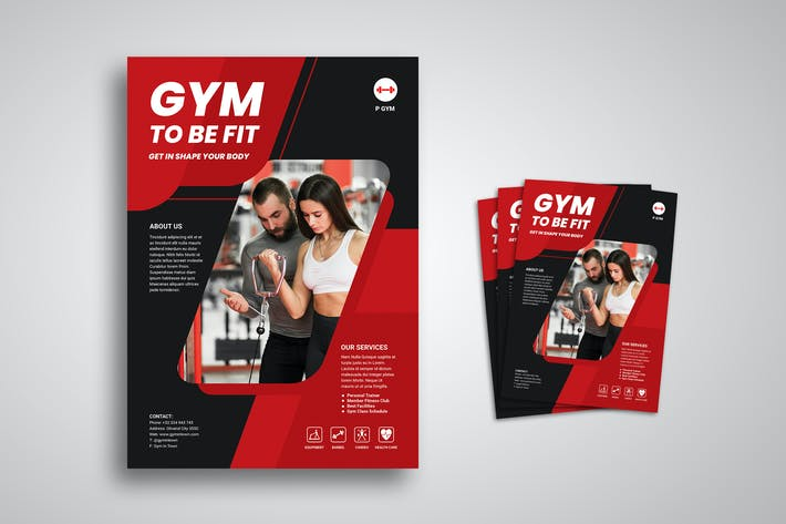Gym and Fitness Flyer Promo Template