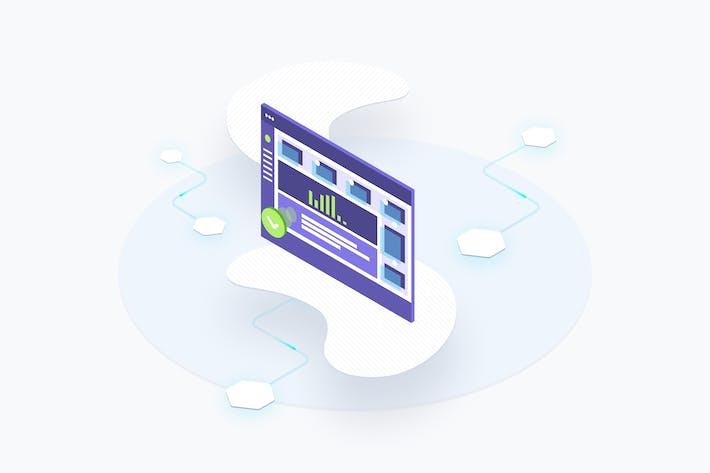 Thumbnail for Blockchain-Plattform-Dashboard Isometrische verwalten