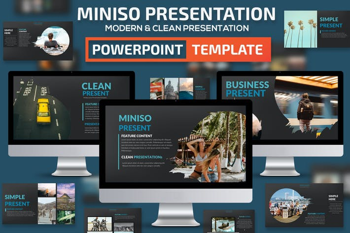 Thumbnail for Miniso Powerpoint Presentation Template