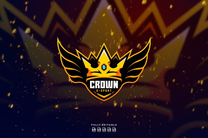 Thumbnail for Crown Fly Wings E sport Logo