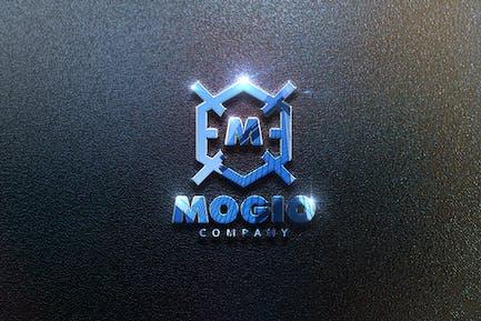 Realistisches Mockup-Logo - Funkeln und Reflexion