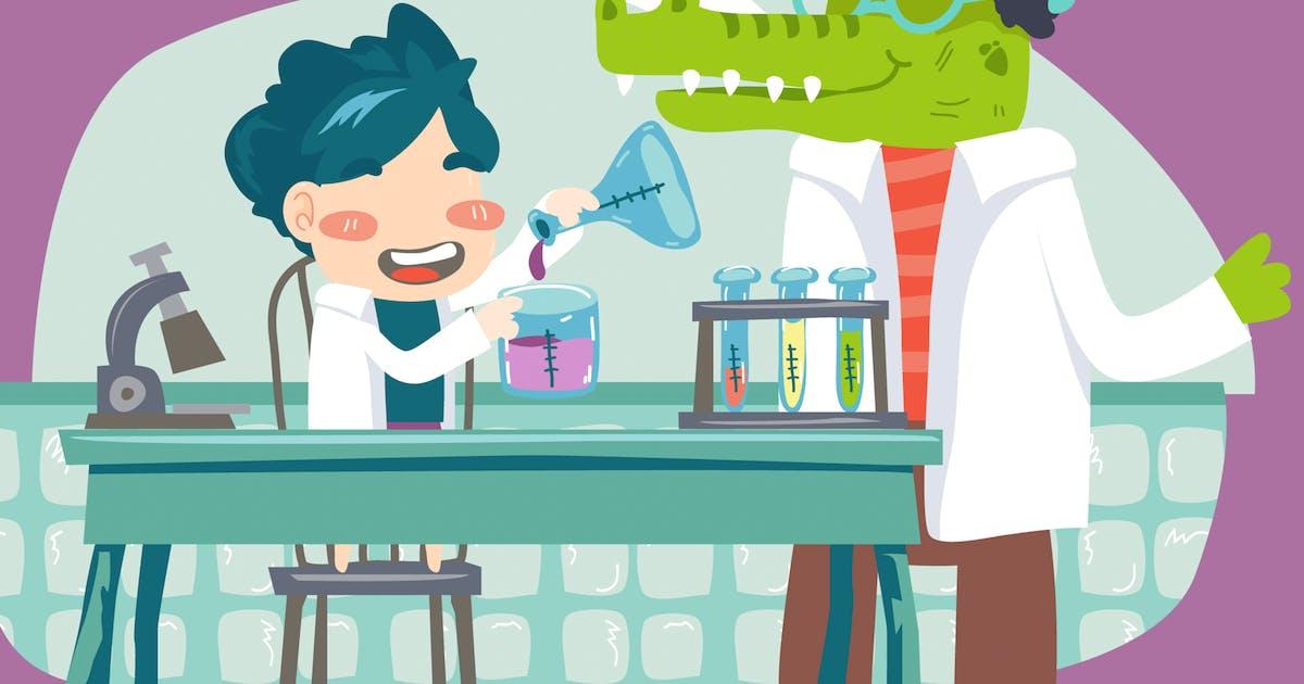 Download Kids Laboratory by Slidehack