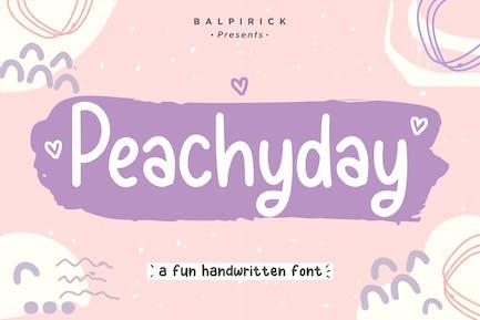 Peachyday Fuente de escritura a mano YH