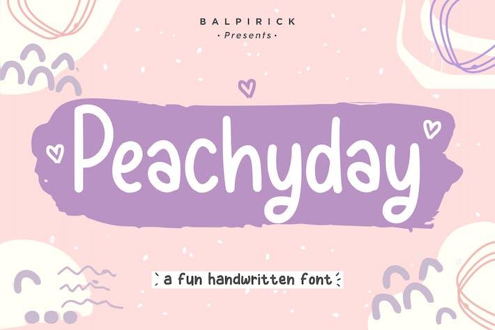 Cover Image For Peachyday YH - Mostrar fuente de escritura a mano