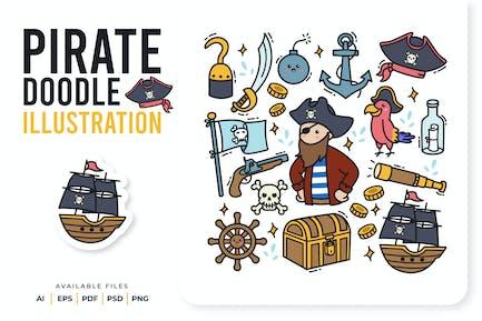 Piraten-Doodle