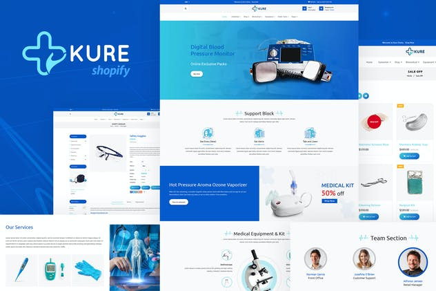 Kure | Medical Store Shopify Theme