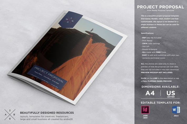 Thumbnail for Modern Project Proposal & Invoice Template