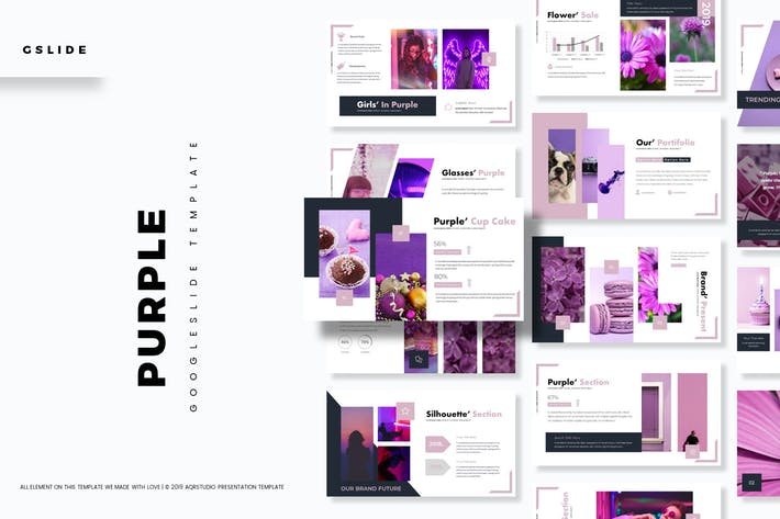 Cover Image For Purple - Google Slides Template
