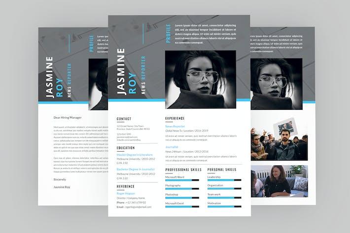 Thumbnail for Mid CV Resume Designer