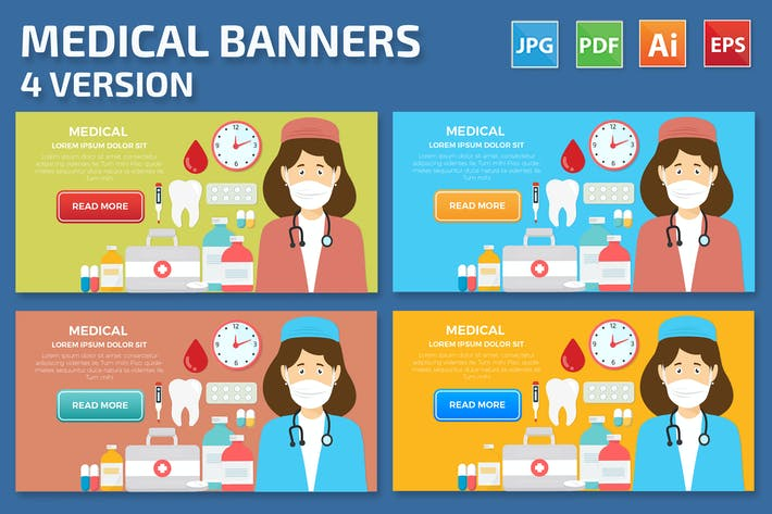 Thumbnail for Medical Banners Design