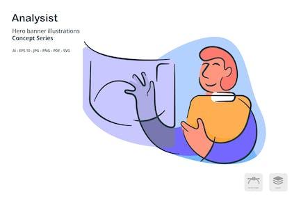 Analysts Occupation Vector Illustration