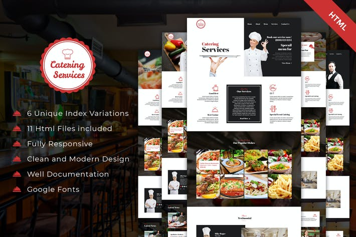 Thumbnail for Catering - Chef and Food Restaurant Template