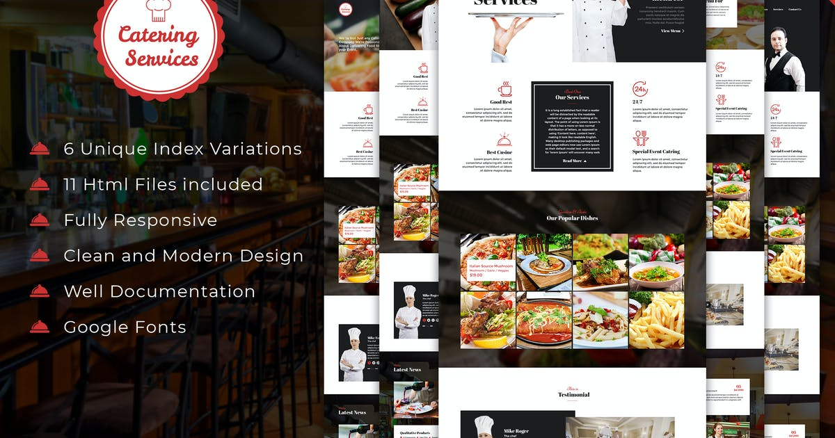 Download Catering - Chef and Food Restaurant Template by kamleshyadav