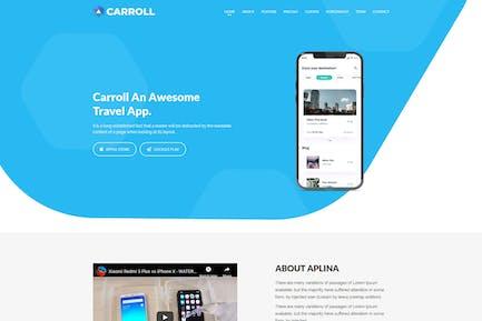 Carroll - App Landing Page HTML Template