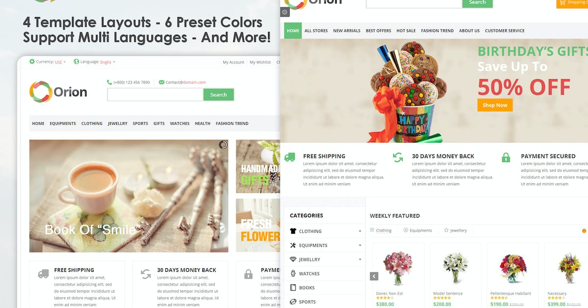 Download Orion :: Businesses & e-Commerce Joomla Template by VinaWebSolutions