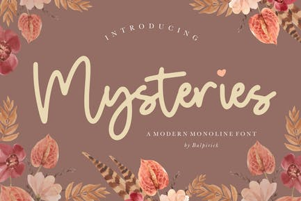 Misterios Monoline Script YH