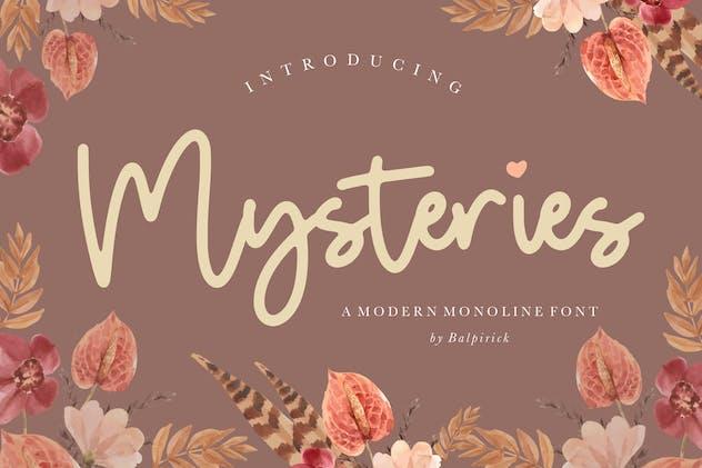 Mysteries Monoline Script YH - product preview 6
